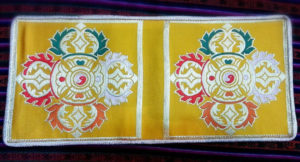 Buddhist Double Dorje Symbol Altar Cloth (double size)