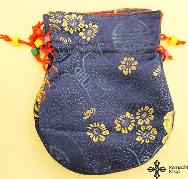 Brocade mala bag (blue)