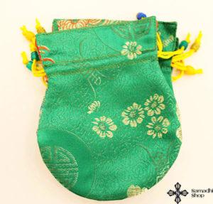 Brocade mala bag (green)