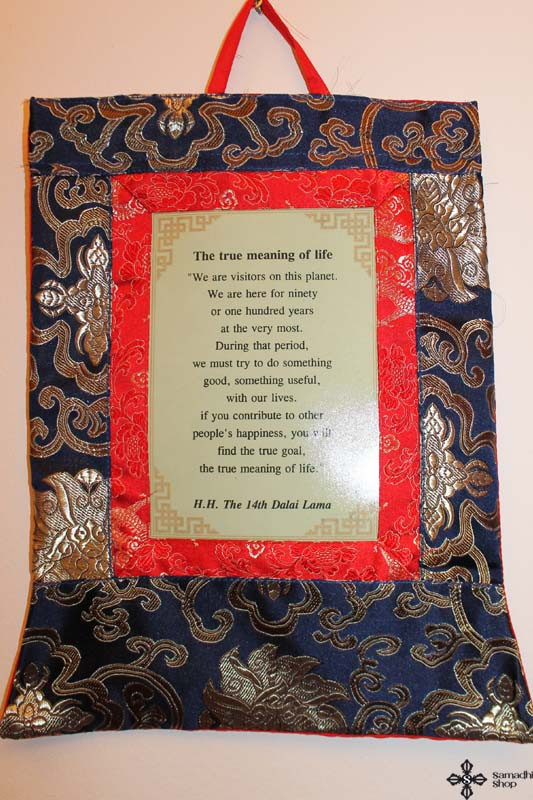 Dalai Lama True Meaning Of Life Wall Hanging (blue color)