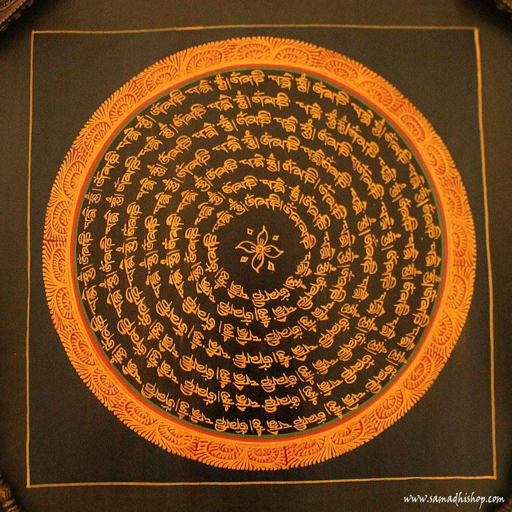 Buddhist mandala thangka painting 25x25 cm #078