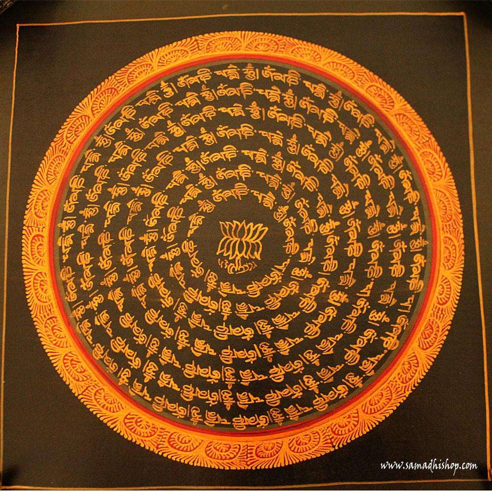 Buddhist mandala thangka painting 25x25 cm #080