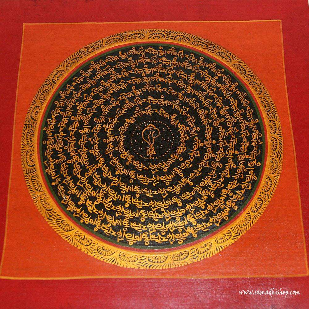 Buddhist mandala thangka painting 25x25 cm #083