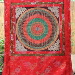 HUGE Buddhist Mantra Mandala Thangka (46 inches / 115 cm)