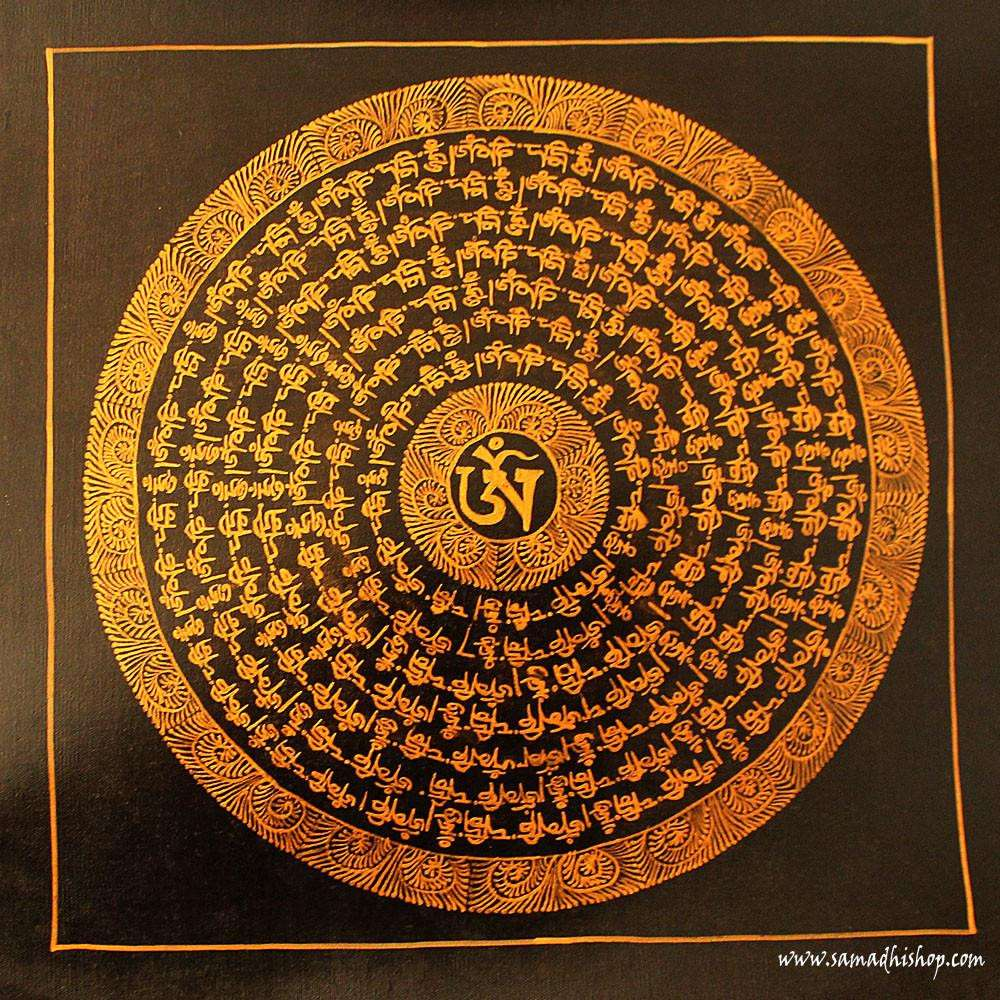 Buddhist mandala thangka painting 25x25 cm #086