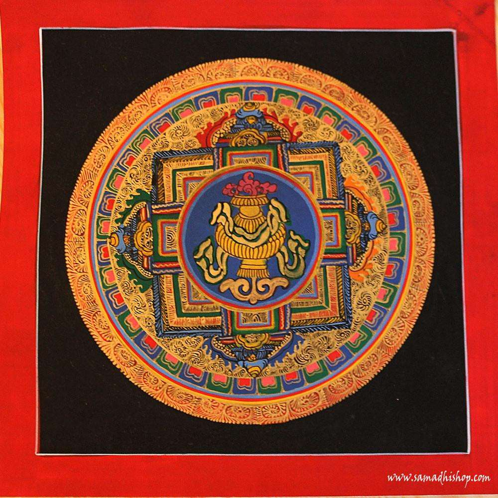 Buddhist mandala thangka painting 25x25 cm #087