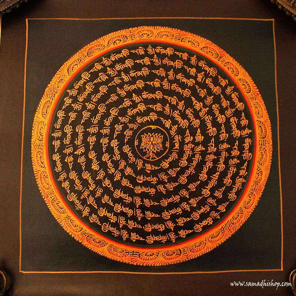 Buddhist mandala thangka painting 25x25 cm #088