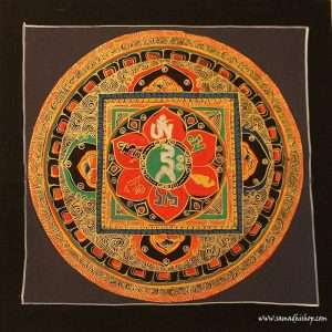 Buddhist mandala thangka painting 25x25 cm #099
