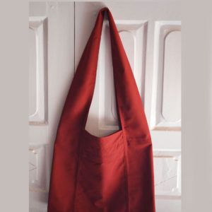 Tibetan Red Cotton Shoulder Monk Bag