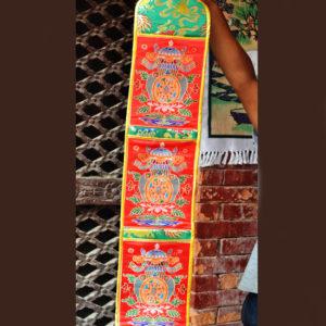 p 7410 Tibetan Silk Auspicious Symbol Letter Holder 3