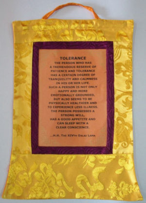 Dalai Lama Message: Tolerance Wall Hanging