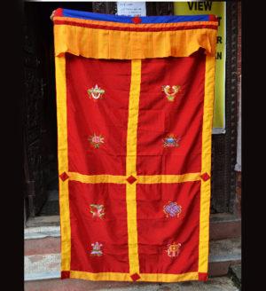 Tibetan Eight Auspicious/Lucky Symbols Door Curtain