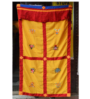 Tibetan Eight Auspicious/Lucky Symbols Door Curtain