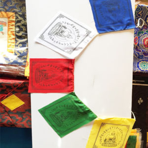 p 7452 Medicine Buddha Cotton Prayer Flag 1