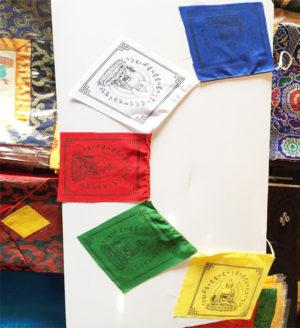 Medicine Buddha Cotton Prayer Flag