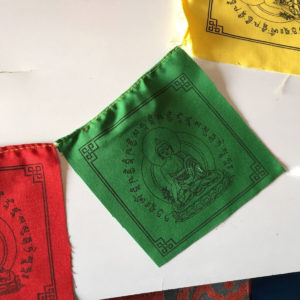 p 7452 Medicine Buddha Cotton Prayer Flag 2