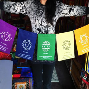 p 7457 seven chakras prayer flag