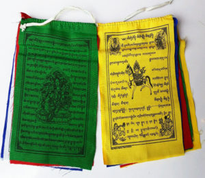 Tibetan High Quality Mix Deities Cotton Prayer Flag