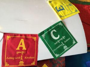 PEACE Buddhist Prayer Flag