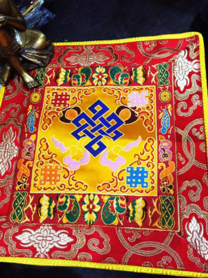 Altar Cloth With Endless Knot Symbol (Yellow, larger)