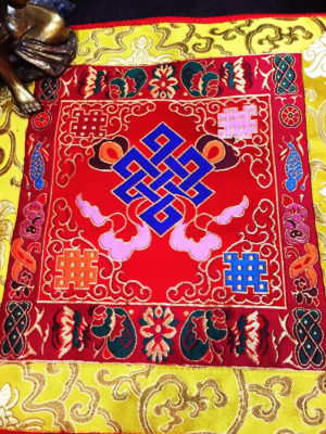 Altar Cloth With Endless Knot Symbol (Red, larger)