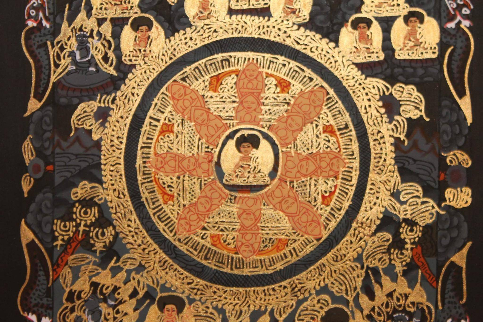 Buddha mandala thangka painting