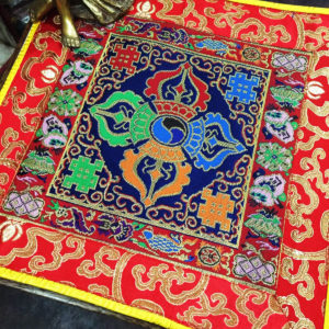 Altar Cloth With Double Dorje Symbol (Blue, larger)