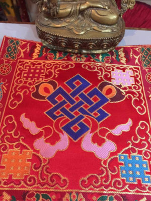 Altar Cloth With Endless Knot Symbol (Red)