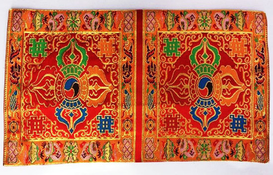 Double Dorje Symbol Altar Cloth (red, double size)