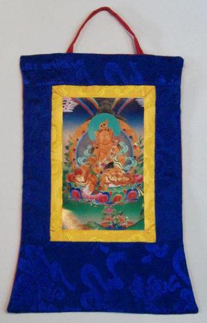 Yellow Dzambhala Small Thangka
