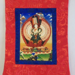 p 7540 Dukar White Umbrella Small Thangka