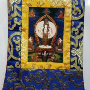 Chenrezig 1000 Arm Form Small Thangka