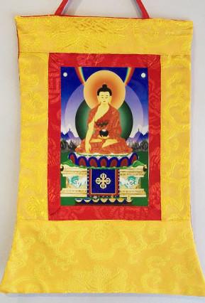 p 7561 Shakyamuni Buddha Small Thangka