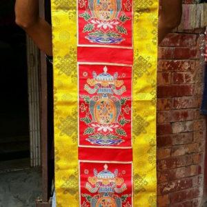 Tibetan Silk Brocade Auspicious Symbol Altar/Table Cloth
