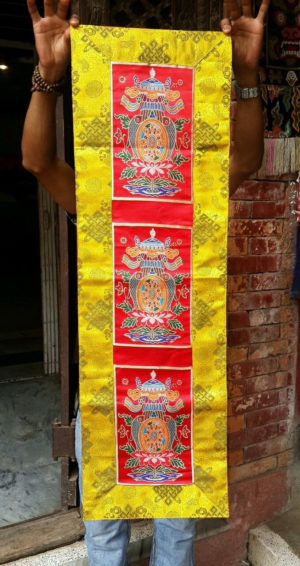Tibetan Silk Brocade Auspicious Symbol Altar/Table Cloth