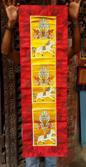 Tibetan Silk Brocade Wind Horse Altar/Table Clothes