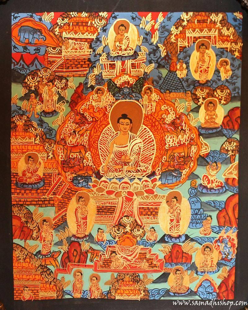 Buddha's life thangka painting