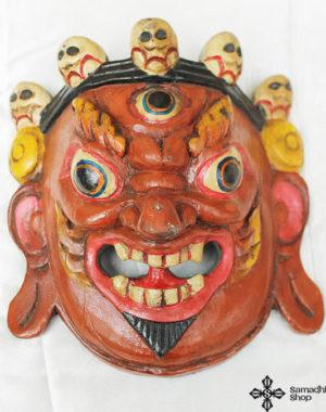 Mahakala Protector Wooden Mask Wall Hanging