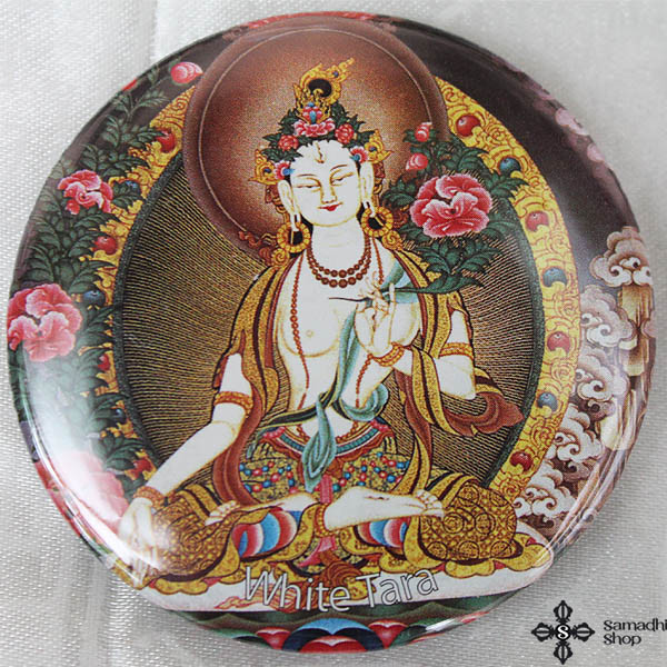 White Tara Fridge Magnet