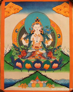 Chenrezig (Avalokiteshvara) painting