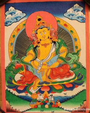 Yellow Dzambhala painting 12x16''