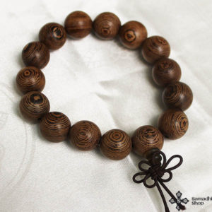 Buddhist Wrist Prayer Beads Wooden Mala Bracelet (18 mm)
