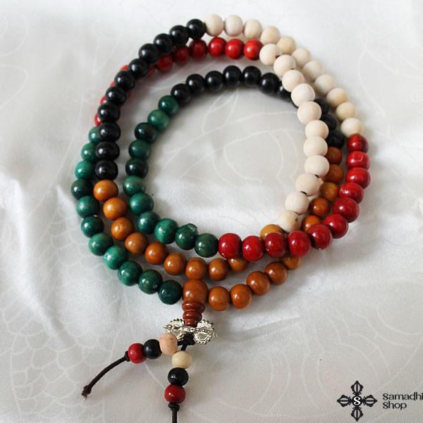 p 7906 nepalese buddhist wooden mala 108 beads 4