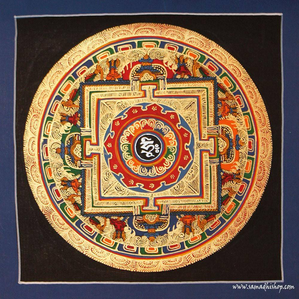 Buddhist mandala thangka painting 25x25 cm #145