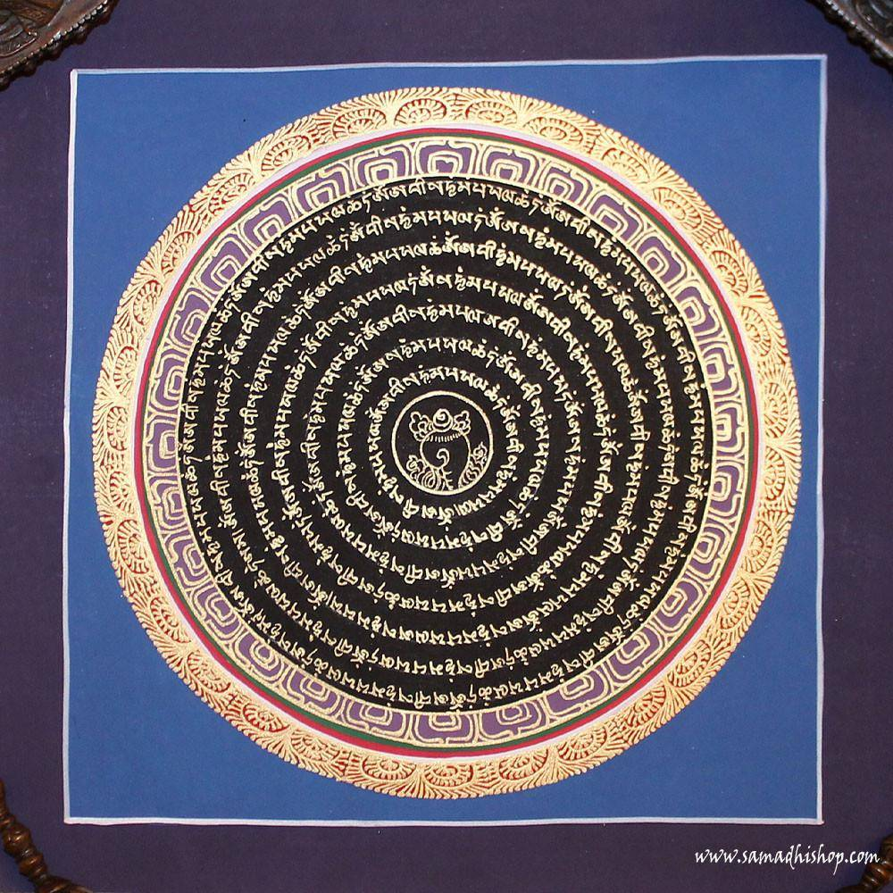 Buddhist mandala thangka painting 25x25 cm #146