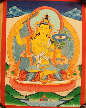 Manjushri bodhisattva thangka painting 30x40 cm