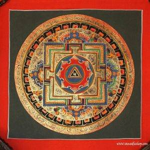 Buddhist mandala thangka painting 10x10 inches / 25x25 cm #016